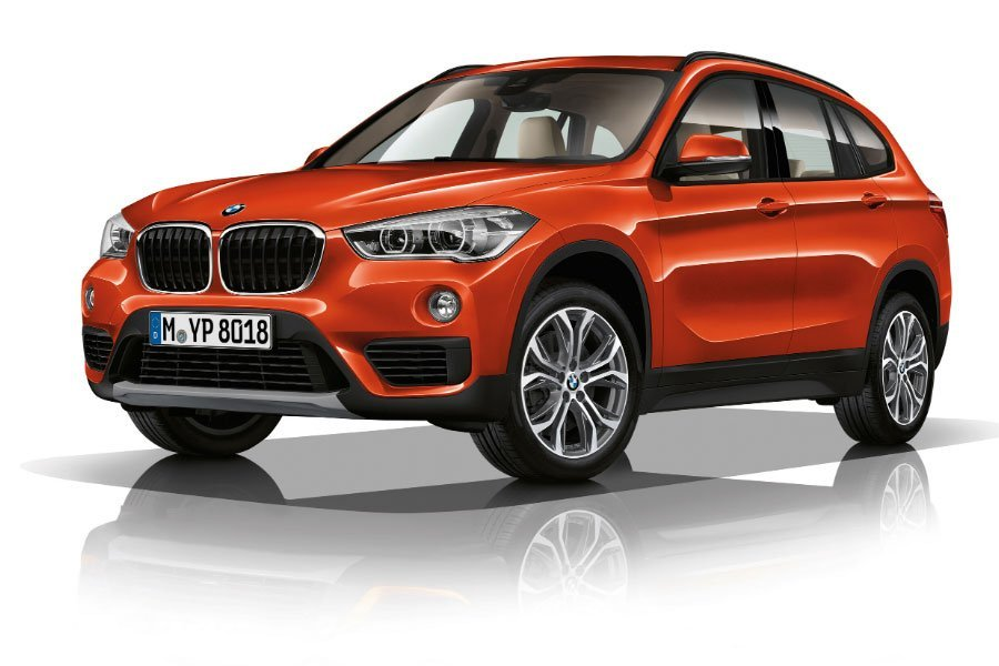 BMW-X1 in orange
